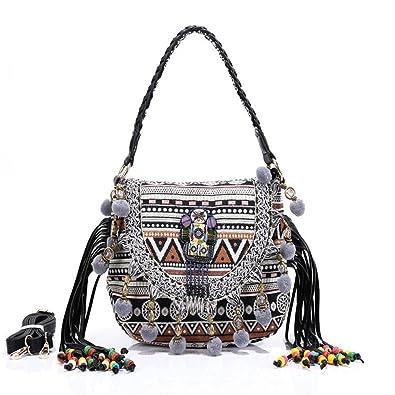 Amazon.com: Para mujer bolso de mano y bolsos bohemio bolso ...