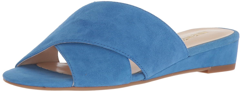 Nine West Women's Tumbarelo Suede Wedge Sandal B071JCC77Z 9 B(M) US|Blue Suede