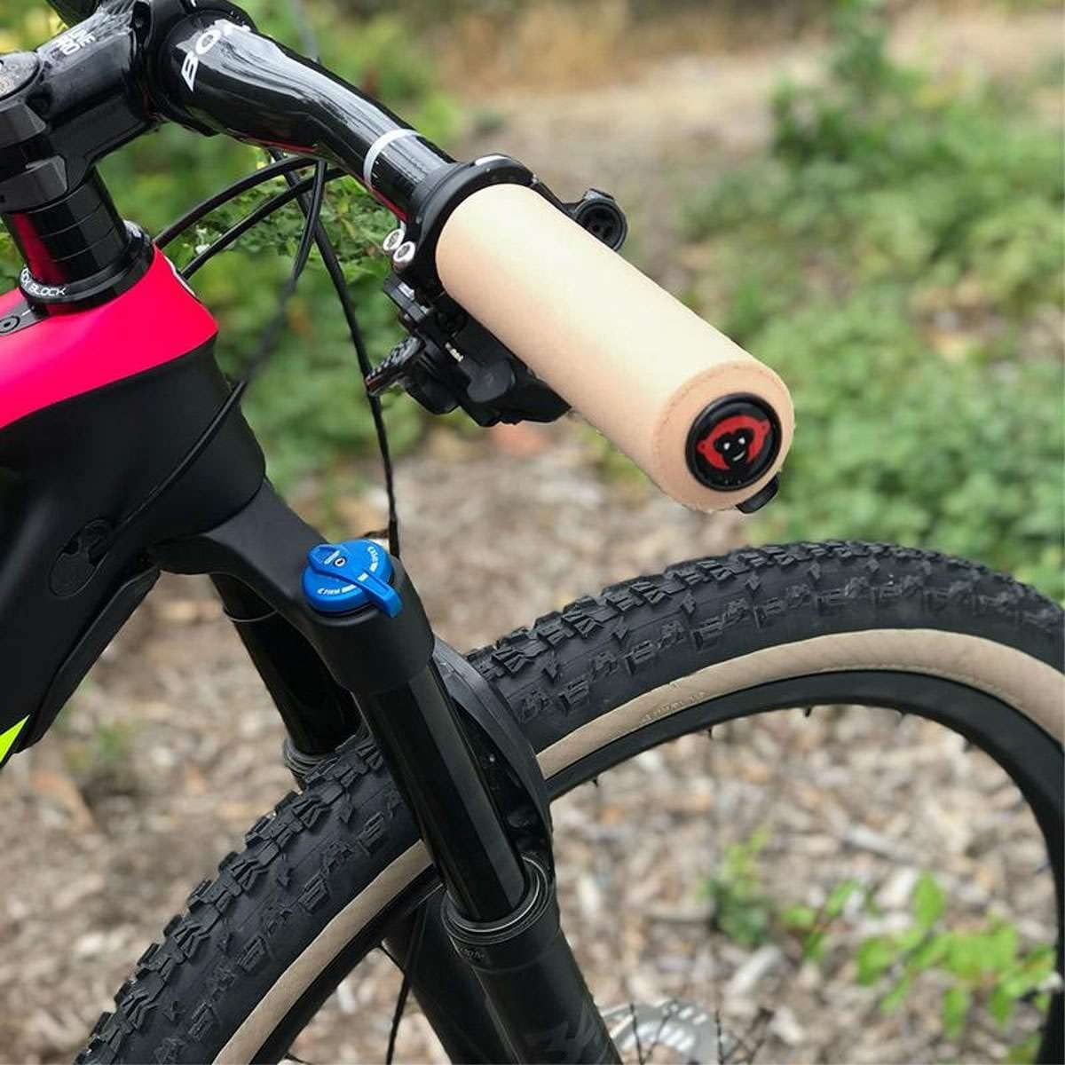 6.5mm Silicone MTB Grips Grey xt RedMonkey Sports Karv