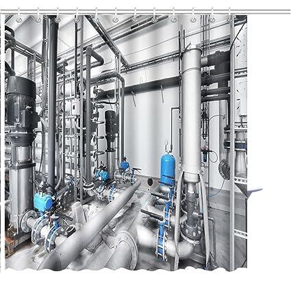 Amazon com: Zoyon Shower Curtain Large Industrial Water