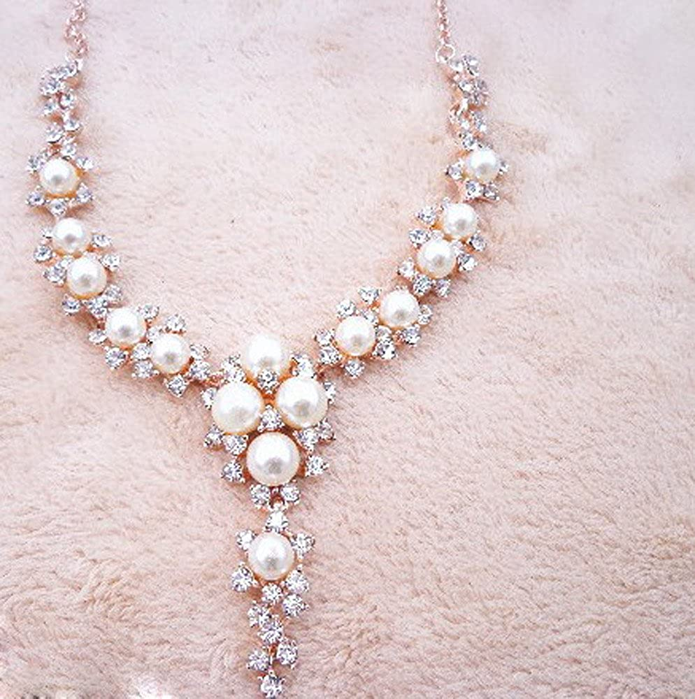 Fashion Trendy Women Jewelry Pearl Necklace Clavicular Brilliant Diamond Crystal Necklace Charms Pendant Necklaces Fine Jewellery Gifts for Girlfriend Lover Wife Her Wedding Anniversary
