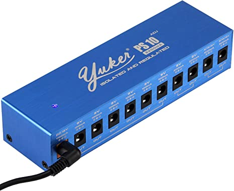 Yuker PS-10 Fuente de alimentación para pedal de Guitarra, 10 ...