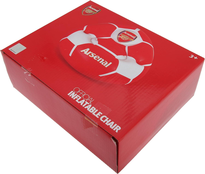 Arsenal FC - Sillón hinchable oficial con el escudo del equipo para niños niñas