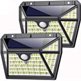 Solar Lights Outdoor 210led, Feob [Super Bright 2200Mah] Motion Sensor Light with 270° Wide Angle,Wireless Wall Lights for F