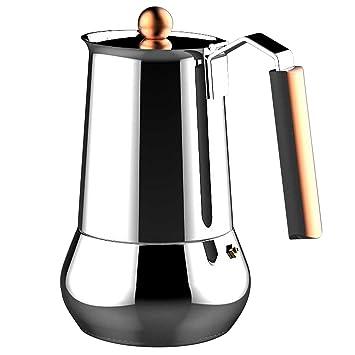 200 ML Bloomma Cafeti/ère Expresso Stove Top Acier Inoxydable 4 Tasses
