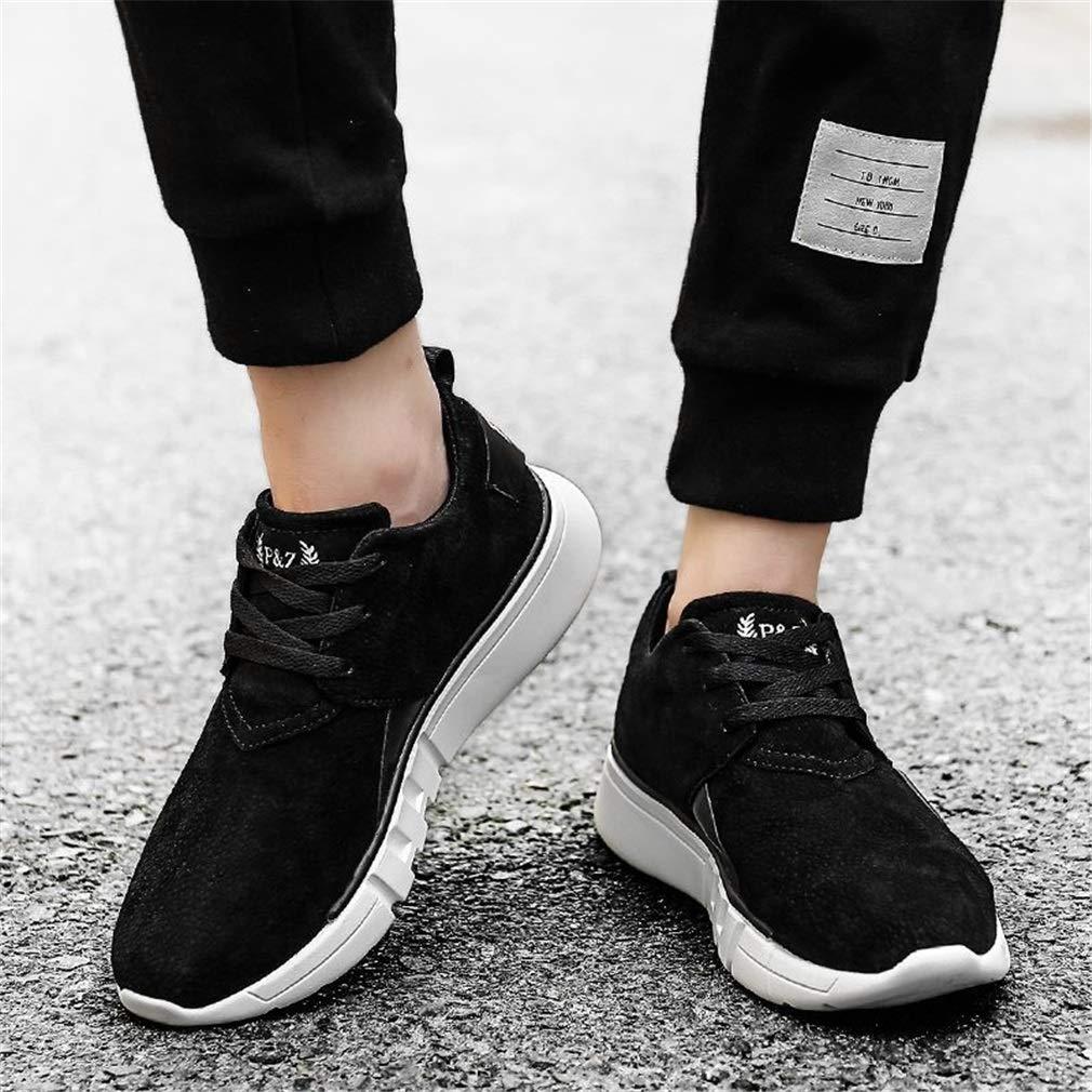 YAN Scarpe da da da uomo scarpe da ginnastica basse di camoscio Scarpe casual stringate Scarpe da fitness e cross training Scarpe da trekking Scarpe da passeggio (Coloreee   Nero, Dimensione   41) | una grande varietà  | Eccellente valore  | prezzo di sconto  d08e9a
