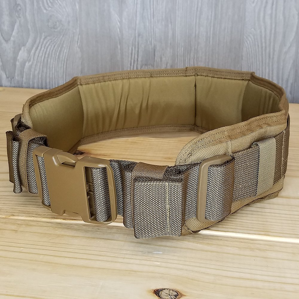 Atlas 46 Harvey Padded Belt Coyote, Medium (32''-34'') | Work, Utility, Construction, Contractor, and Tactical