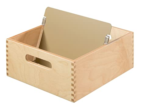 HAN 505-0 - Fichero de madera, capacidad para 900 tarjetas A5 horizontal,