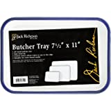 7 x 11 in White - Porcelain On Steel Jack Richeson Butcher Tray Palette Pack of 2