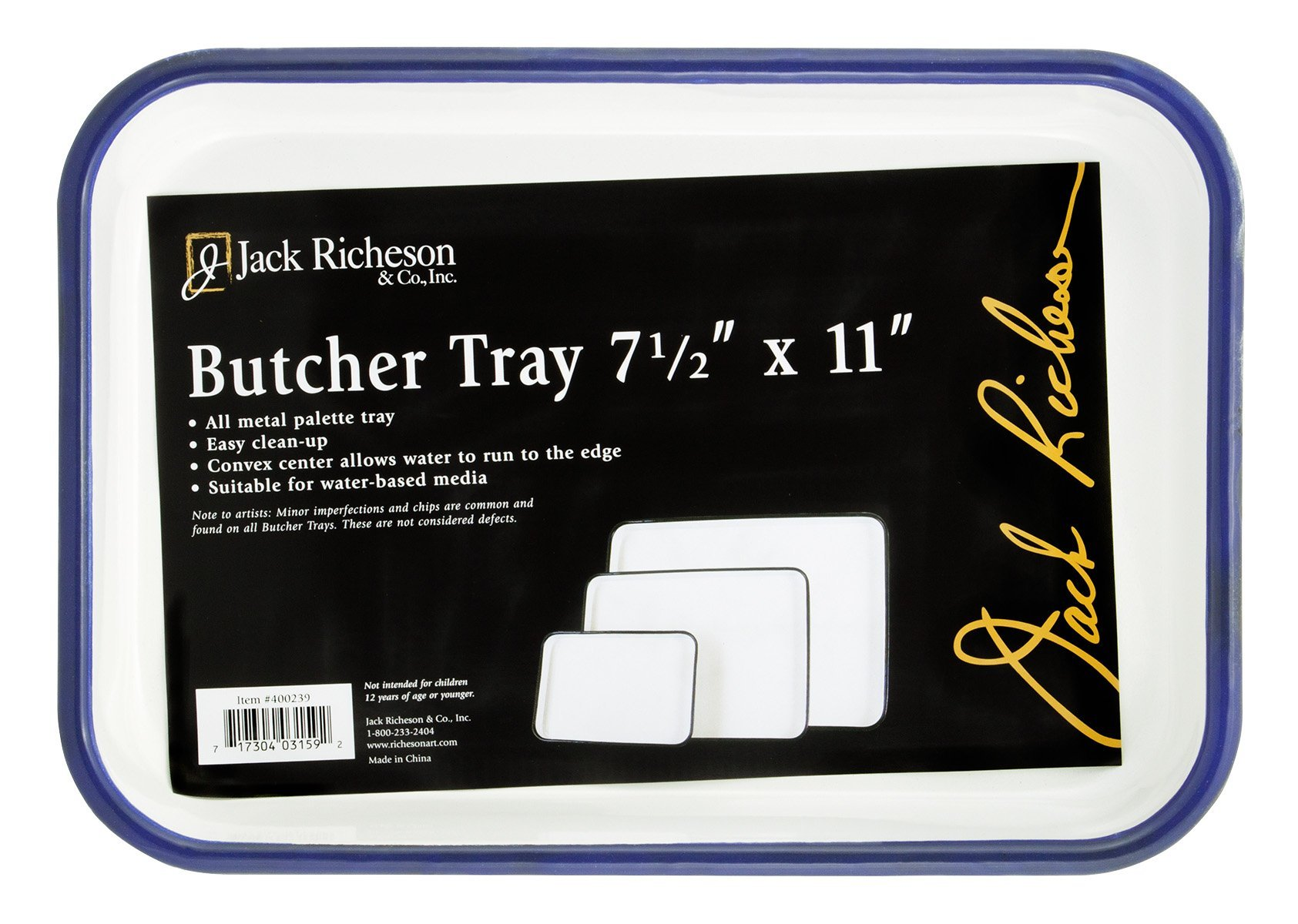 Jack Richeson Butcher Tray Palette, 7 x 11 in, Porcelain On Steel, White - JACK-400239 by Jack Richeson