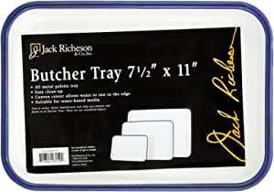 Jack Richeson Butcher Tray Palette, 7 x 11 in, Porcelain On Steel, White -