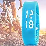 Wuiyepo unisexe 3D étanche LED Calorie podomètre USB intelligente Sport Bracelet Bluetooth à puce bracelet (bleu)