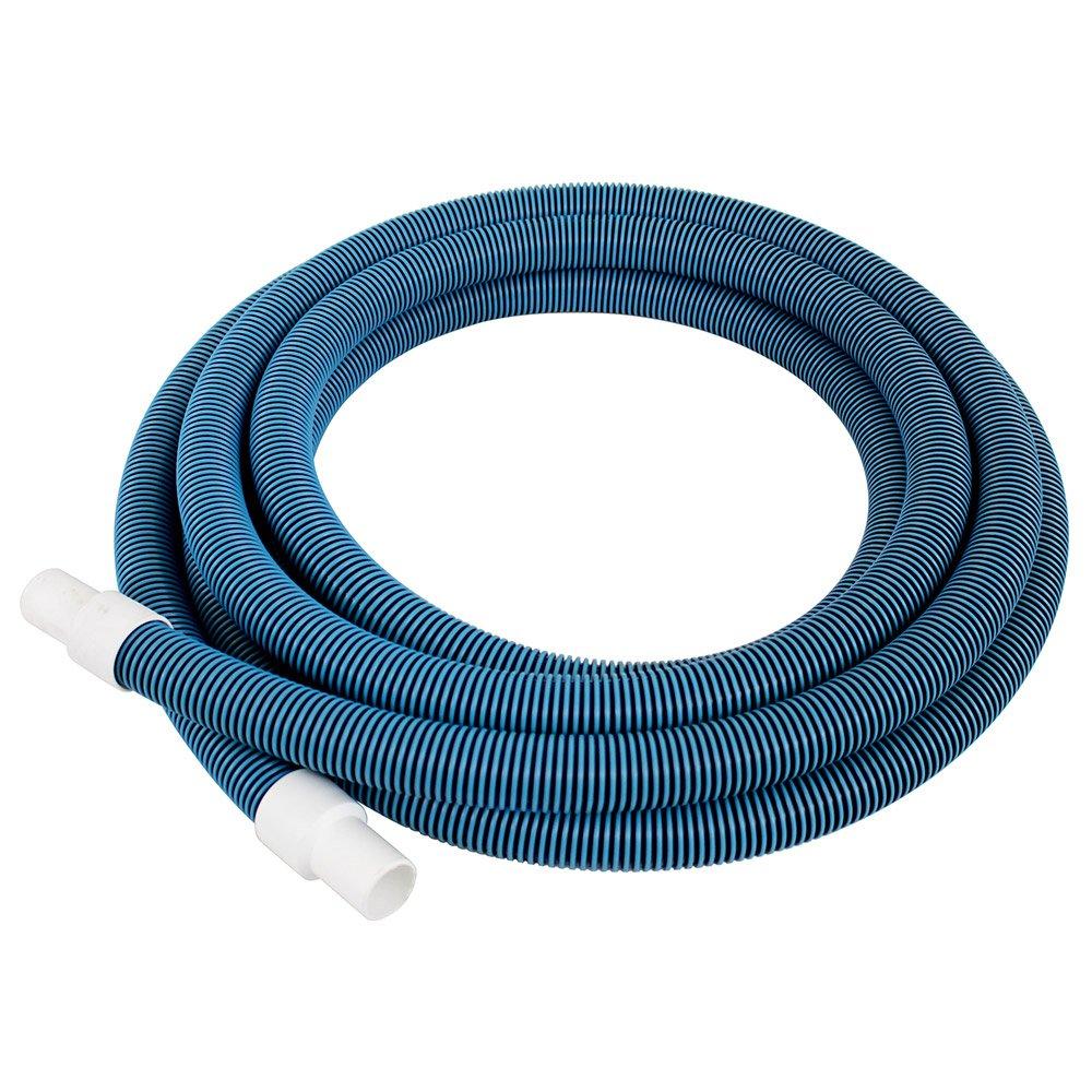 Pool Mate 510H Premium-Deluxe Blue/Black Spiral Wound Swimming Pool Vacuum Hose, 1-1/4'' X 21'