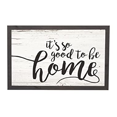P. GRAHAM DUNN It's So Good to Be Home Distressed 18 x 11 Inch Solid Pine Wood Farmhouse Frame Wall Plaque