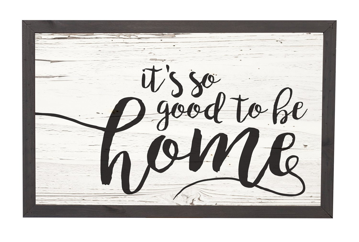 It's So Good To Be Home Distressed 18 x 11 Inch Solid Pine Wood Farmhouse Frame Wall Plaque