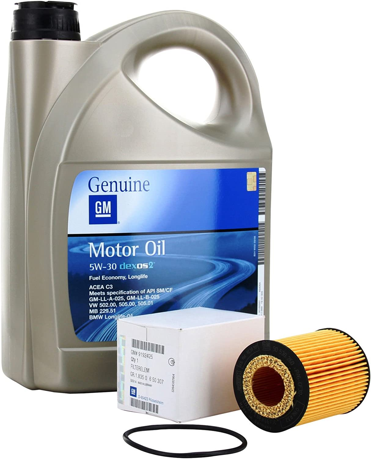 KIT FILTRO ACEITE MOTOR GM General Motor OPEL Oil 5w30 5 Litros ...