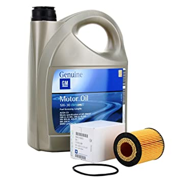 Kit Filter Öl Motor GM General Motor Opel Oil 5 W30 5 Liter (Opel ...