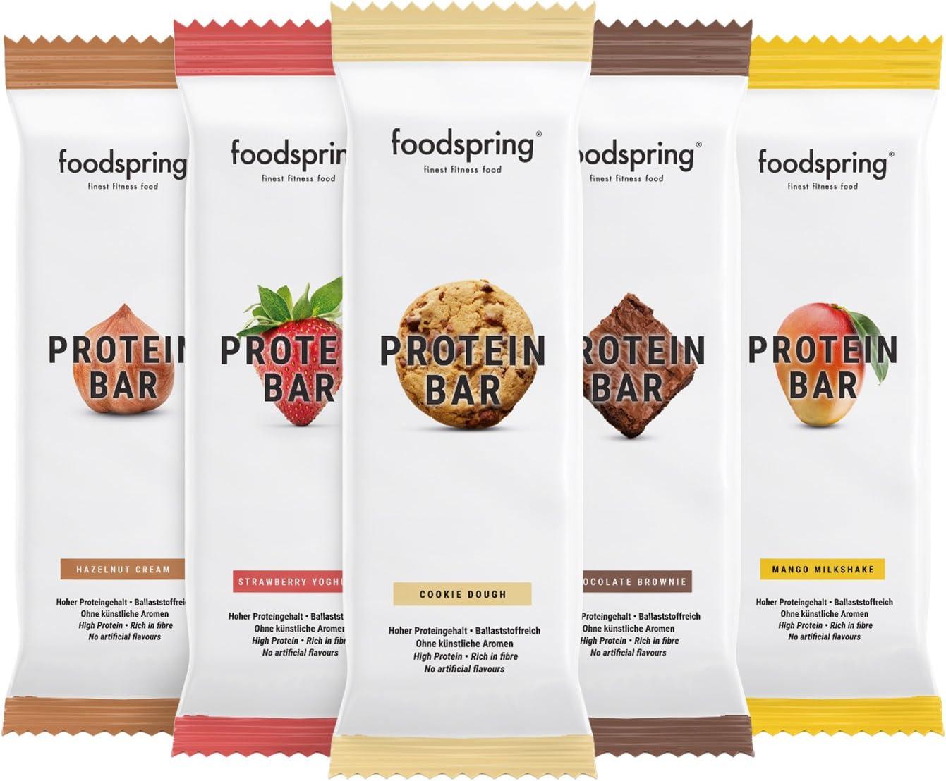 foodspring Barritas de Proteína, Sabor Cookie Dough (galleta ...