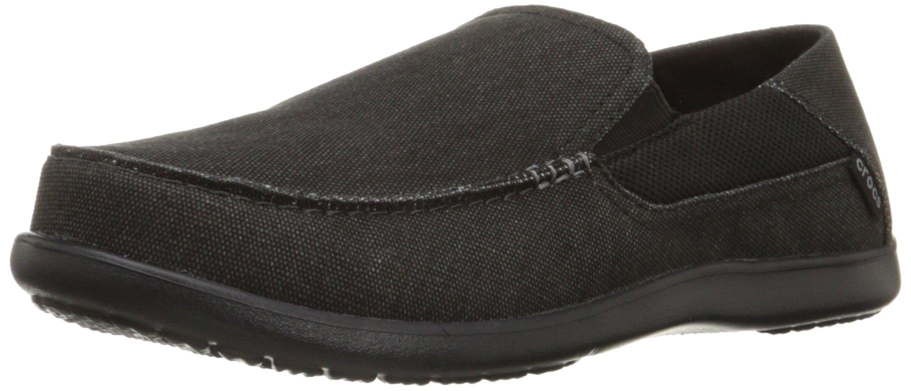 Crocs Men's Santa Cruz 2 Luxe M Slip-On Loafer, Black/Black, 10 M US