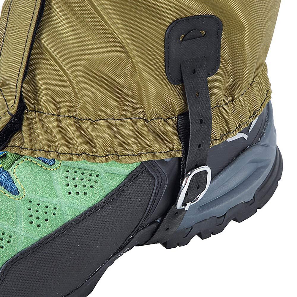 Lixada Gu/êtres de Randonn/ée Longues Lamouflage Protection de la Jambe Enveloppent Couvre-Chaussures de Ski Snowboard Imperm/éable