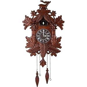 Kendal Vivid Large Deer Handcrafted Wood Cuckoo Clock CC105