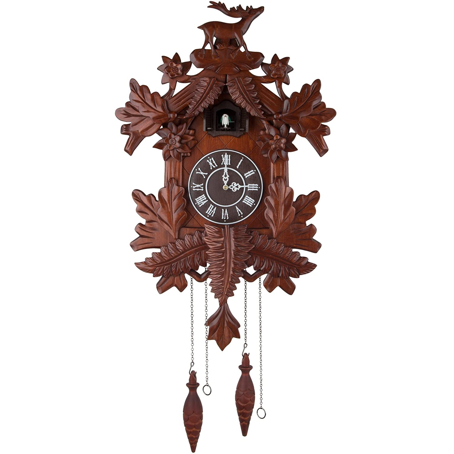 Vivid Large Deer Handcrafted Wood Cuckoo Clock CC105 Hwabond Luxuries