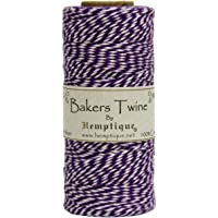 Hemptique Baker's Twine Spool, Purple and White