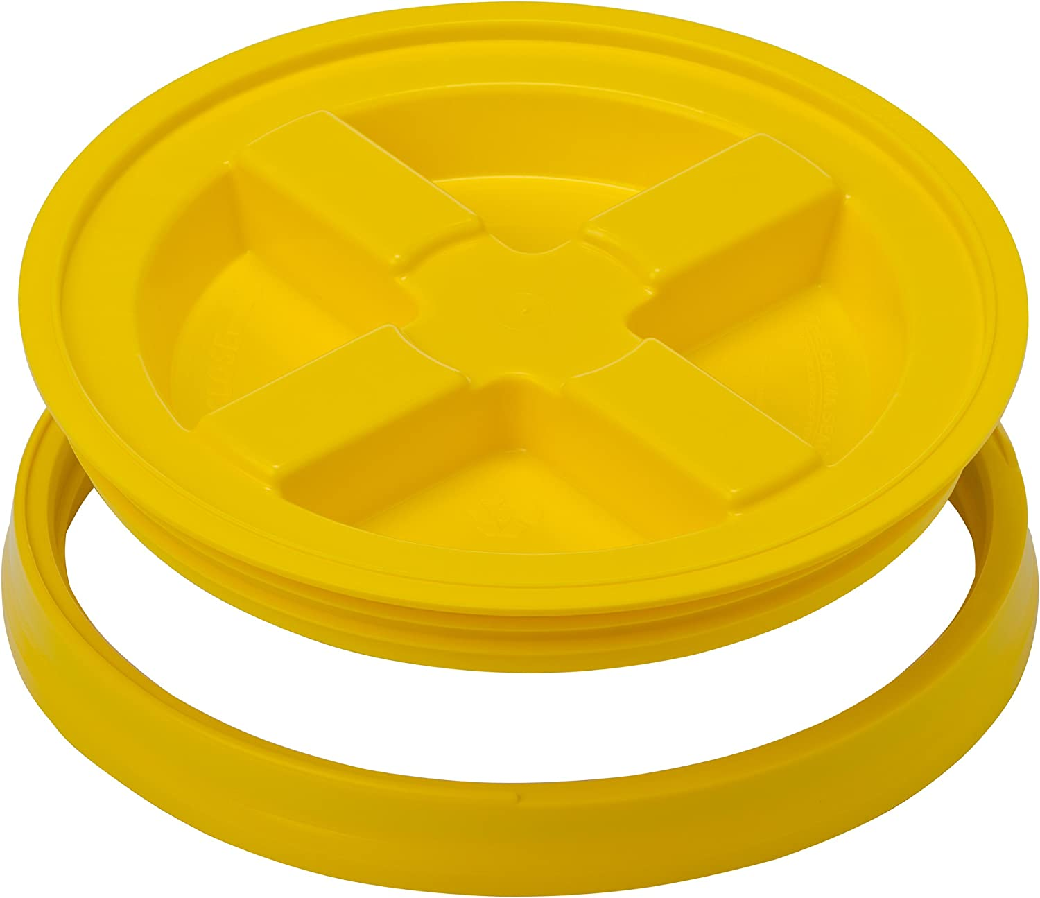 Gamma Seals Airtight & Leakproof Lid for 3.5 to 7 Gallon Buckets, Yellow (4121)