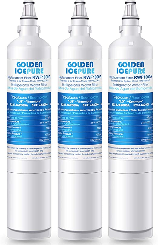 Replacement Water Filter For LG LSC27990TT CLCH104 Refrigerator 1 Pack