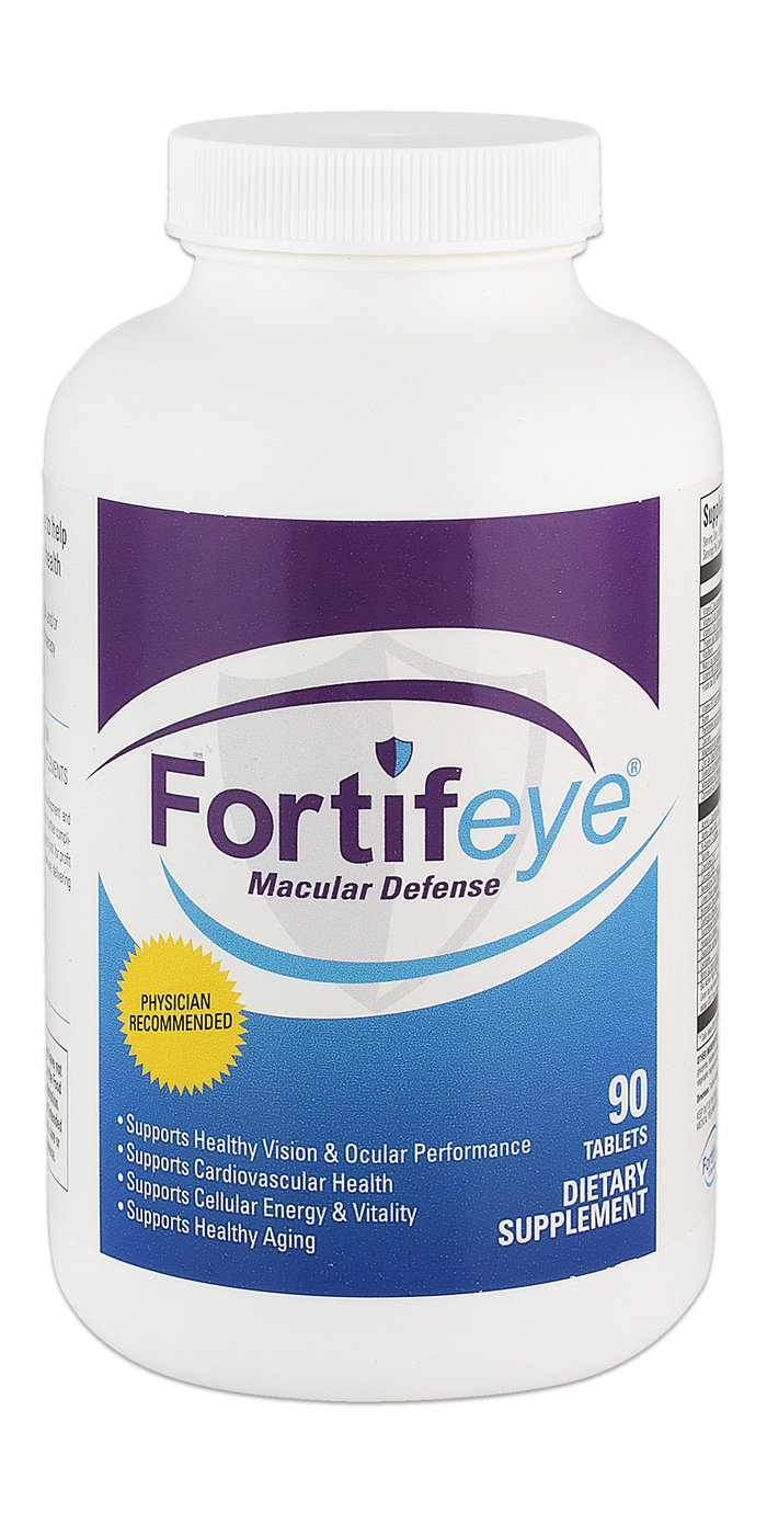 Fortifeye Vitamins Macular Defense Multivitamin, All Natural USP Verified Total Body Vision Supplement – 30 Day Supply, 90 Tablets Regular