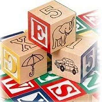 Shreeja Collections Non-Toxic 27Pcs Wooden Alphabet Building Blocks with Storage Box for Kids