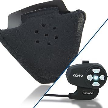 Outlaw Audio Speaker oreja Insertar Almohadillas comodidad con Hawk COM-2 Bluetooth de comunicación de