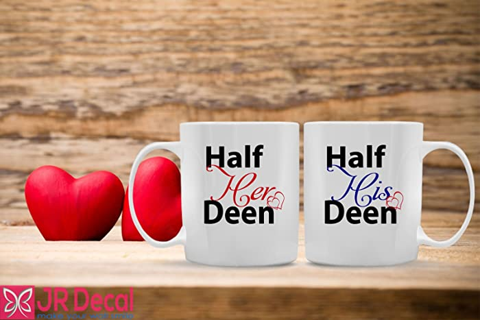 Set Of 2 Mugs Half Her Deen And His Islamic For Couples