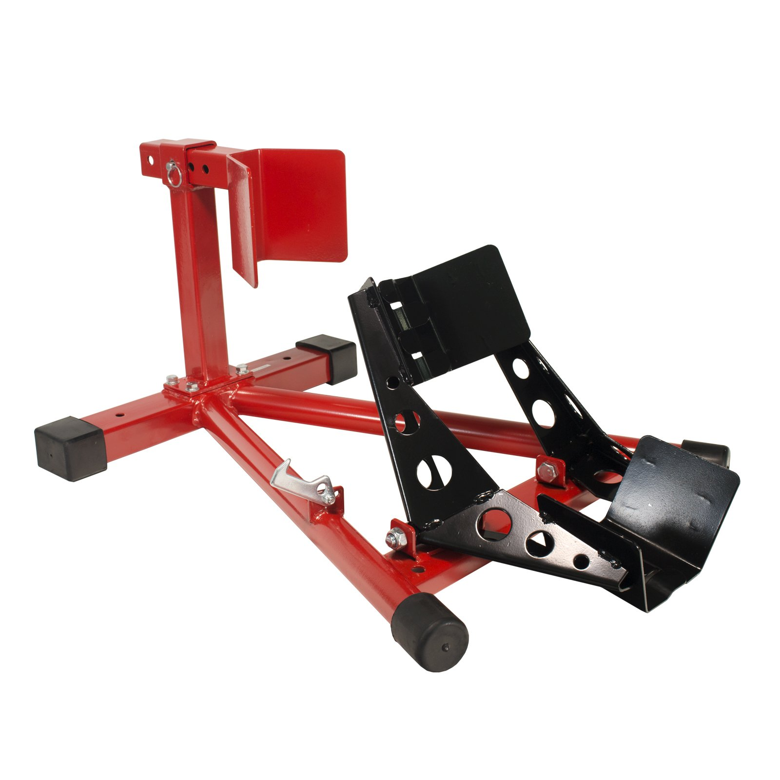 Dragway Tools Motorcycle Wheel Chock Locking & Adjusting Stand 16'' - 21'' Tire by Dragway Tools