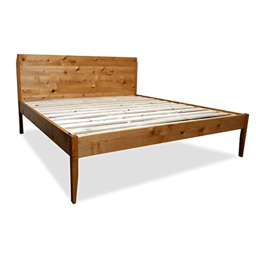 mid century modern bed frame and headboard set