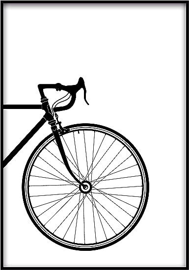 Panorama Lienzo Bicicleta Clásica en Blanco y Negro Parte ...