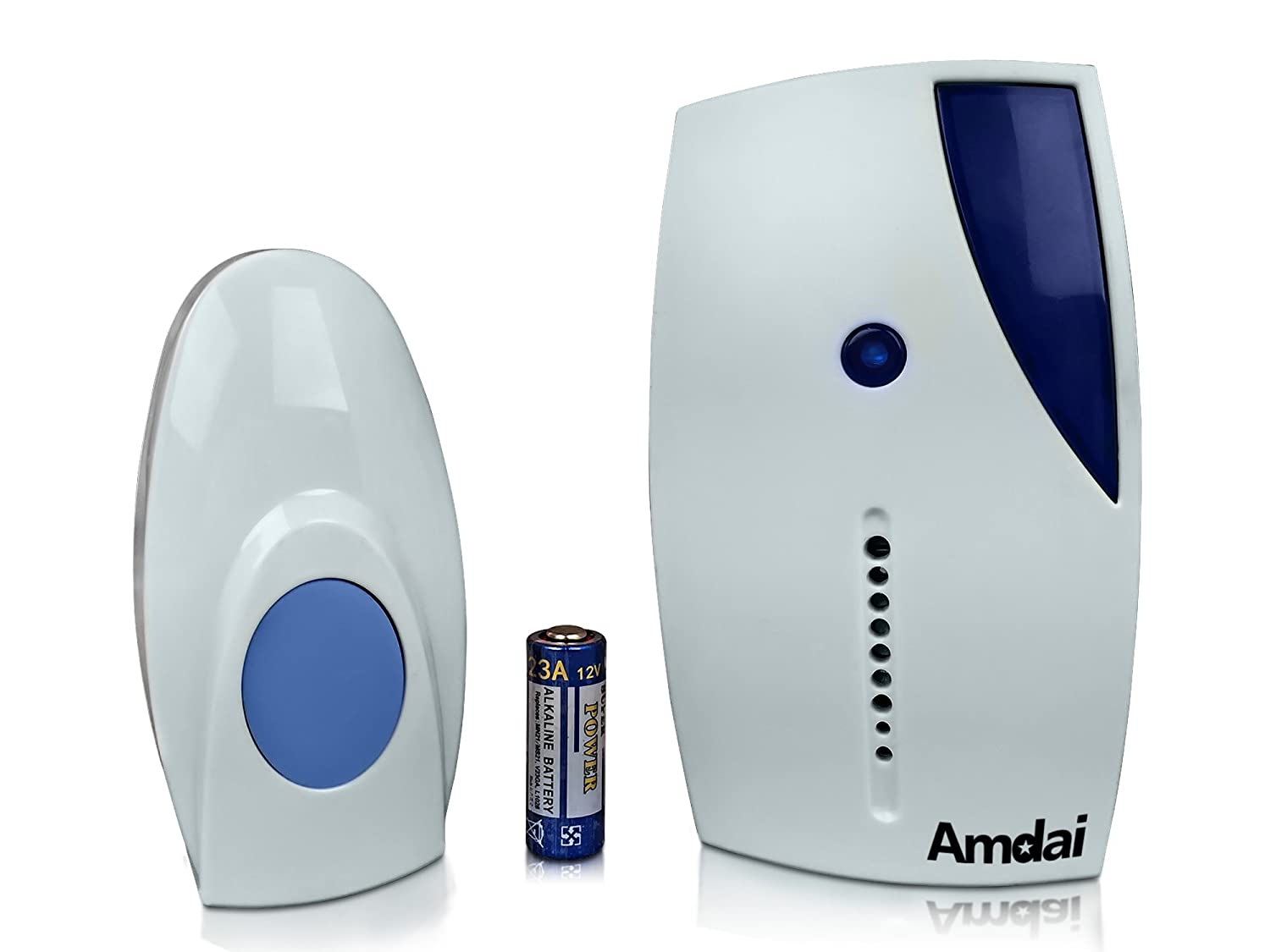 Amdai Wireless Doorbell Easy Install 32 Chimes Diy Electrical Wiring In The Home Deaf Doorbells Tools