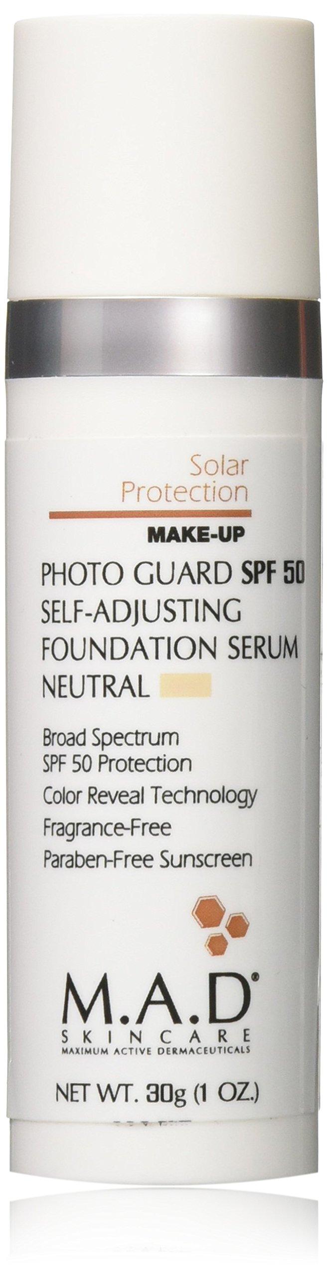 M.A.D SKINCARE SOLAR PROTECTION: Photo Guard SPF 50 Self-Adjusting Foundation Serum: Neutral - 30g