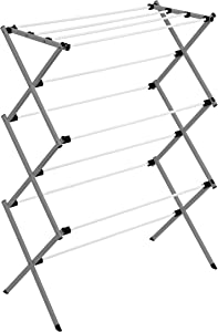 Honey-Can-Do Collapsible Clothes Drying Rack DRY-09065 Metal Clothes Drying Rack, Folding Drying Rack