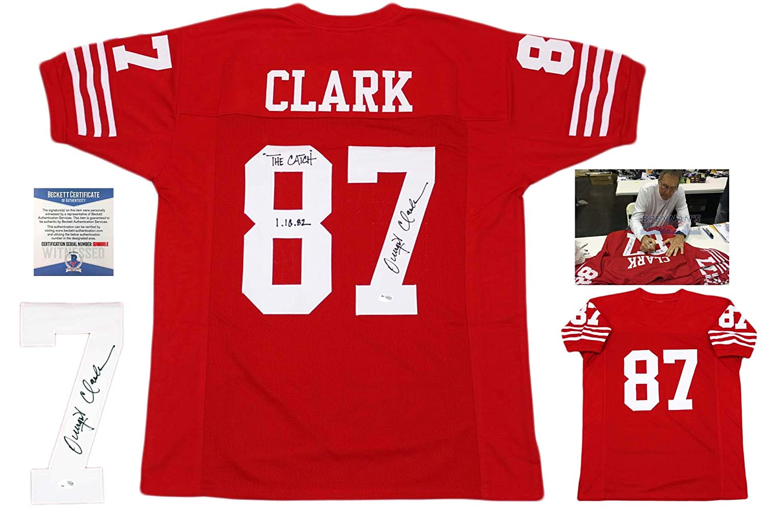Dwight Clark Autographed Signed Jersey - The Catch - Beckett Authentic at  Amazon's Sports Collectibles Store