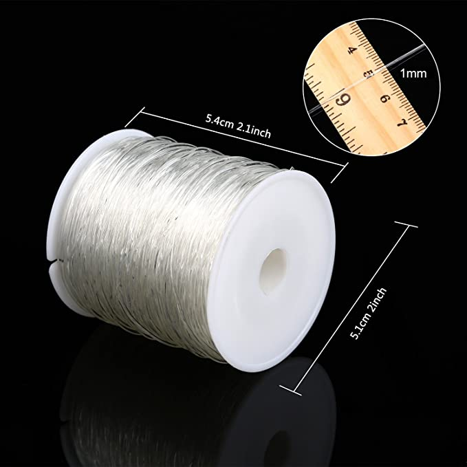 5m//roll 0.5mm Clear Elastic Crystal Thread for Jewelry Making DIY Laliva Accessories