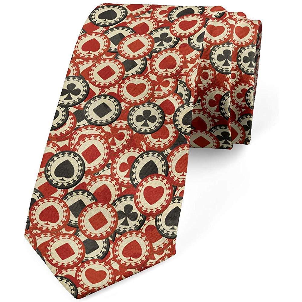 Corbata para hombre, fichas de póker Wealth, corbata, crema negra ...