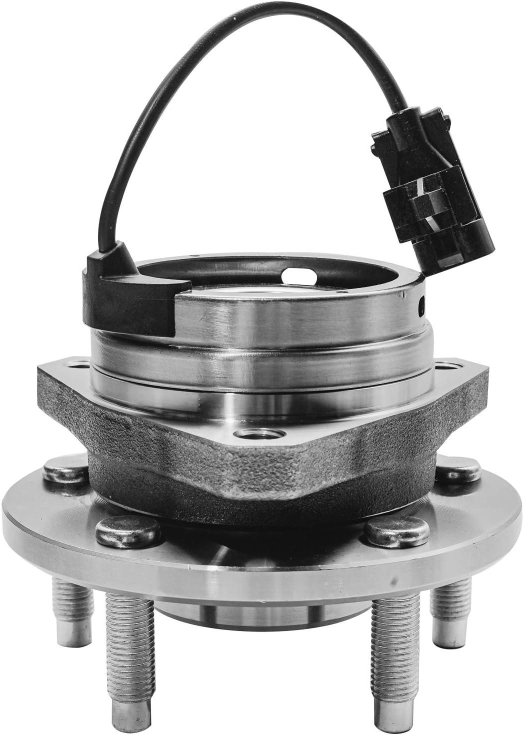 2 Pair Front Wheel Hub Bearing Assembly w//o ABS Fits Chevrolet Malibu Pontiac G6