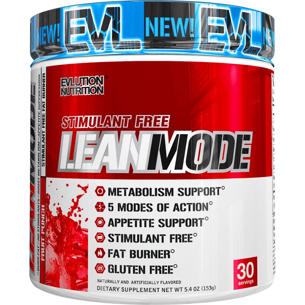 Evlution Nutrition Lean Mode Stimulant-Free Weight Loss Supplement with Garcinia Cambogia, CLA and Green Tea Leaf Extract, 30 Servings (Fruit Punch) by Evlution