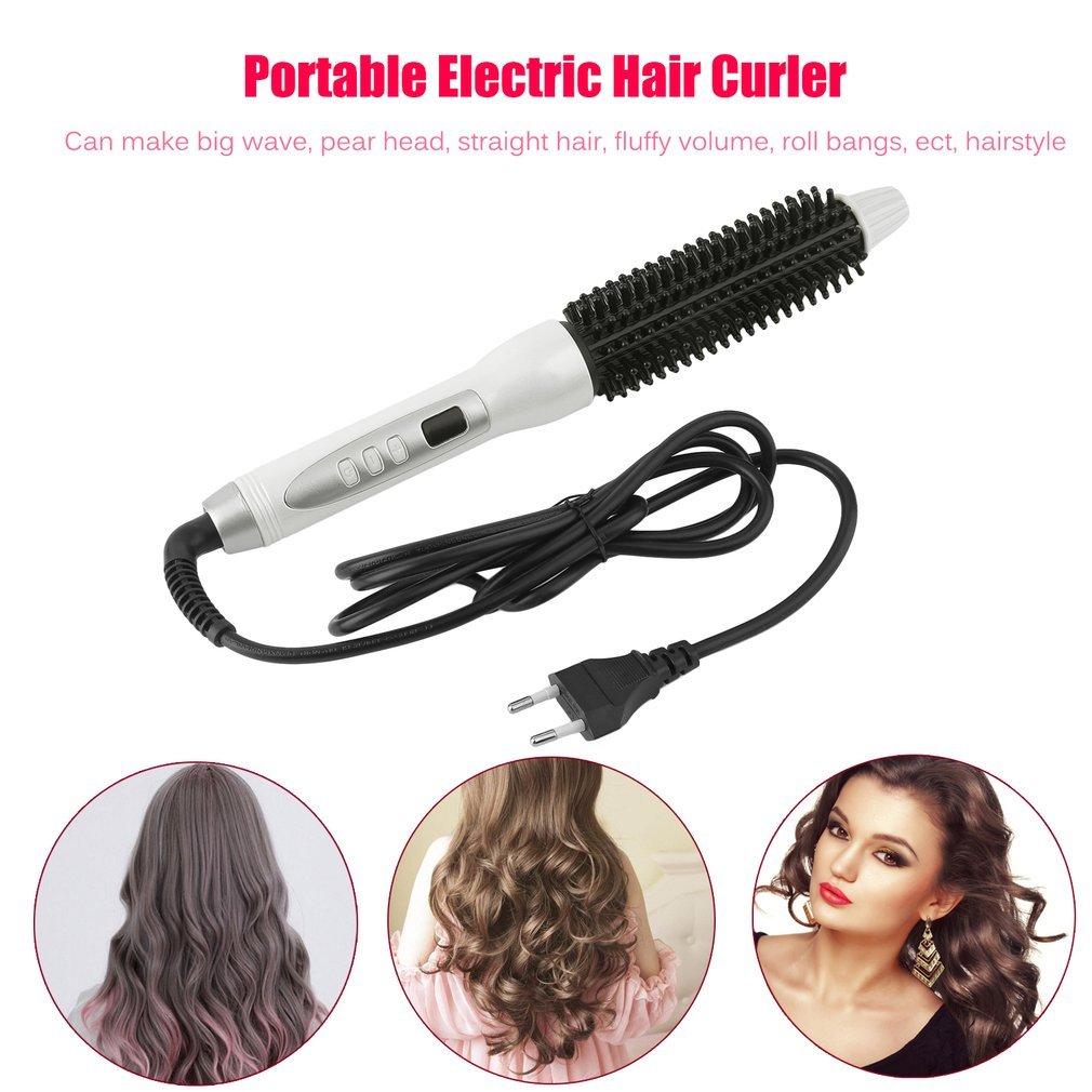 Rullo dei capelli del ferro arricciacapelli 220-240V di arricciatura dei capelli del bigodino di capelli elettrico portatile U-KISS