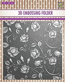 Cross with Lines Nellie Embossing 3D Folder