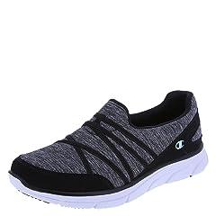 4bc4072388b Champion Women s Grey Black Women s Sierra Slip-On 5.5 Regular - Casual  Women s Shoes