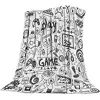 Flannel Fleece Blanket Video Games Sketch Gaming Racing Teen 90's Ultra Soft Lightweight Microfiber Throw Blanket 40x50…
