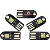 WINGONEER 5pezzi Mini LED Night USB luce bianca della lampada LED, temperatura di colore 6000K