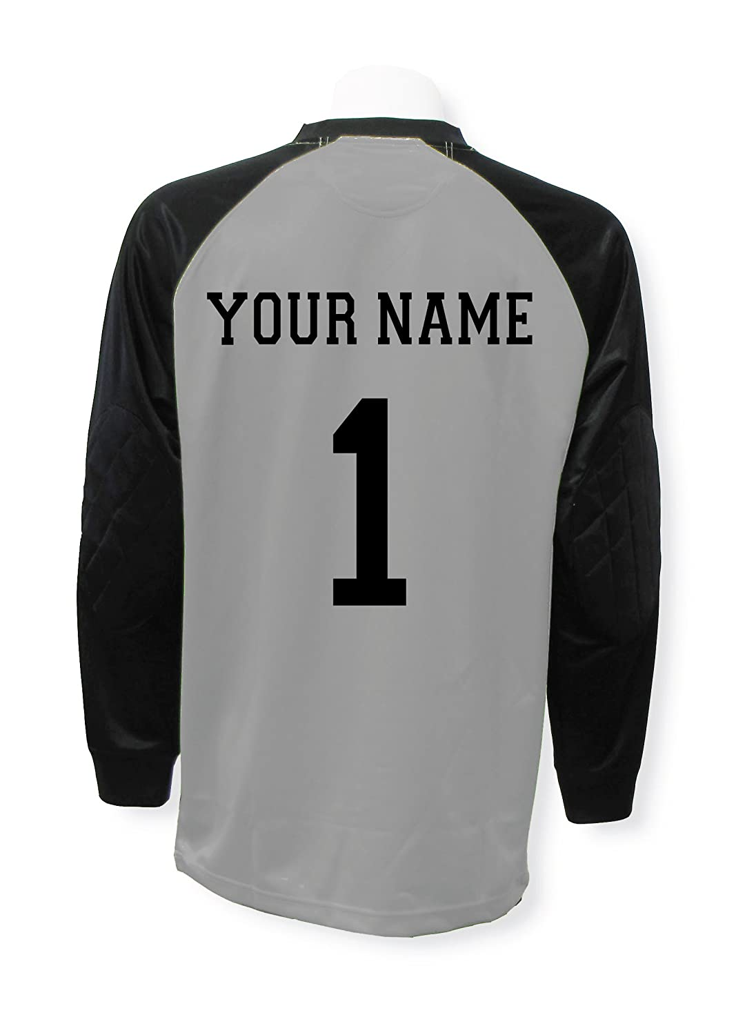Soccer Goalkeeper Jersey Personalized with your name and number B013TSSDBC Adult Medium|シルバー シルバー Adult Medium